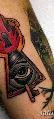 Фото тату замочная скважина 25.08.2018 №147 – keyhole tattoo – tatufoto.com