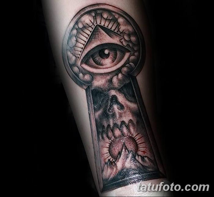 Фото тату замочная скважина 25.08.2018 №157 - keyhole tattoo - tatufoto.com