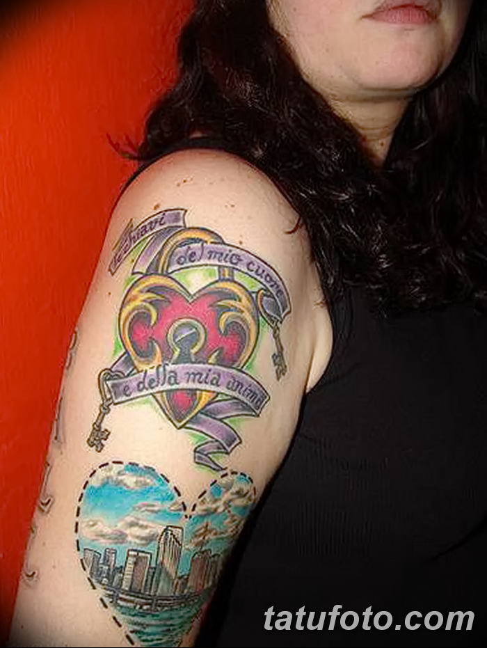 Фото тату замочная скважина 25.08.2018 №162 - keyhole tattoo - tatufoto.com