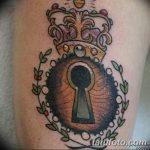 Фото тату замочная скважина 25.08.2018 №165 - keyhole tattoo - tatufoto.com