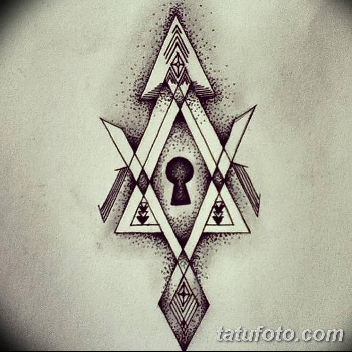 Фото тату замочная скважина 25.08.2018 №176 - keyhole tattoo - tatufoto.com