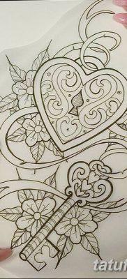 Фото тату замочная скважина 25.08.2018 №177 – keyhole tattoo – tatufoto.com