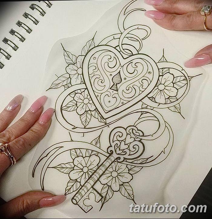 Фото тату замочная скважина 25.08.2018 №177 - keyhole tattoo - tatufoto.com