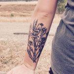 Фото тату колос пшеницы от 07.08.2018 №005 - tattoos ear of wheat - tatufoto.com
