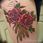 Фото тату колос пшеницы от 07.08.2018 №032 - tattoos ear of wheat - tatufoto.com