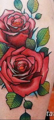 Фото тату красная роза от 08.08.2018 №071 – red rose tattoo – tatufoto.com