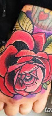 Фото тату красная роза от 08.08.2018 №073 – red rose tattoo – tatufoto.com