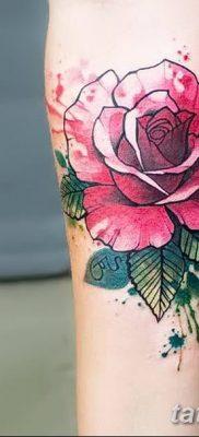 Фото тату красная роза от 08.08.2018 №074 – red rose tattoo – tatufoto.com