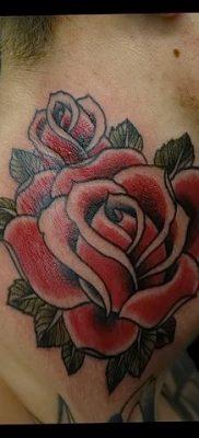 Фото тату красная роза от 08.08.2018 №079 – red rose tattoo – tatufoto.com