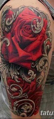 Фото тату красная роза от 08.08.2018 №080 – red rose tattoo – tatufoto.com