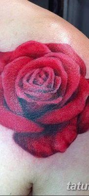 Фото тату красная роза от 08.08.2018 №082 – red rose tattoo – tatufoto.com