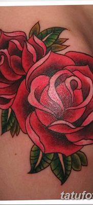 Фото тату красная роза от 08.08.2018 №084 – red rose tattoo – tatufoto.com