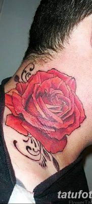 Фото тату красная роза от 08.08.2018 №085 – red rose tattoo – tatufoto.com