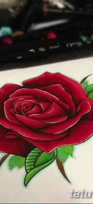 Фото тату красная роза от 08.08.2018 №086 – red rose tattoo – tatufoto.com