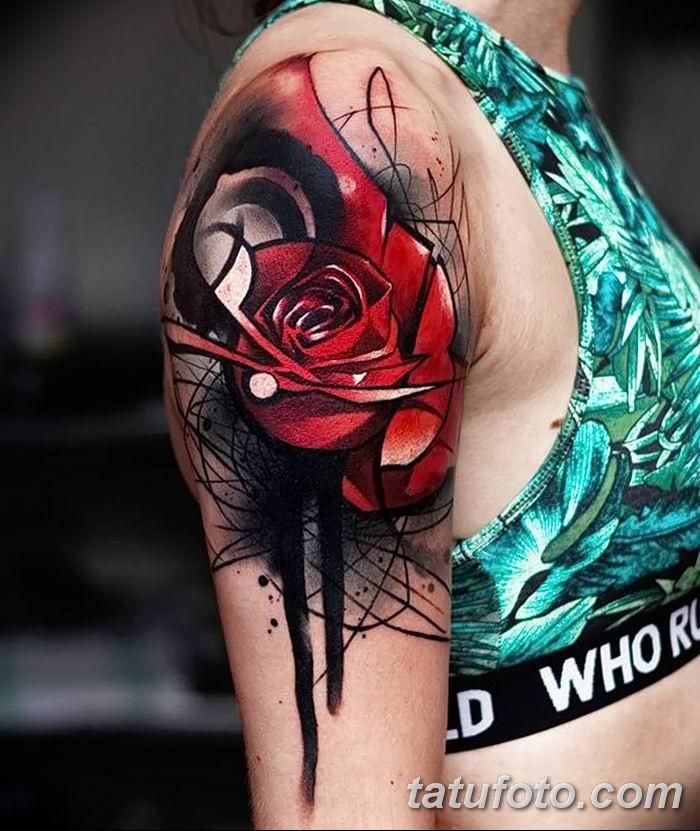 Фото тату красная роза от 08.08.2018 №088 - red rose tattoo - tatufoto.com