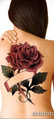 Фото тату красная роза от 08.08.2018 №090 – red rose tattoo – tatufoto.com