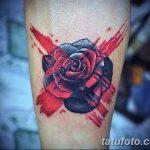 Фото тату красная роза от 08.08.2018 №092 - red rose tattoo - tatufoto.com