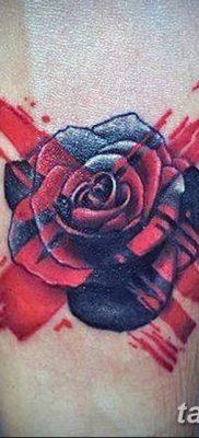 Фото тату красная роза от 08.08.2018 №092 – red rose tattoo – tatufoto.com