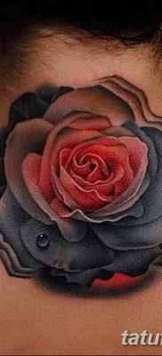 Фото тату красная роза от 08.08.2018 №094 – red rose tattoo – tatufoto.com