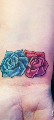 Фото тату красная роза от 08.08.2018 №095 – red rose tattoo – tatufoto.com