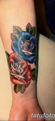 Фото тату красная роза от 08.08.2018 №096 – red rose tattoo – tatufoto.com