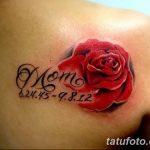 Фото тату красная роза от 08.08.2018 №097 - red rose tattoo - tatufoto.com