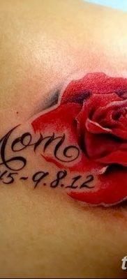 Фото тату красная роза от 08.08.2018 №097 – red rose tattoo – tatufoto.com