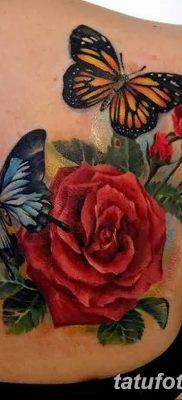 Фото тату красная роза от 08.08.2018 №099 – red rose tattoo – tatufoto.com