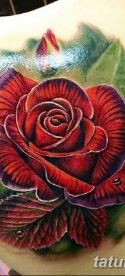 Фото тату красная роза от 08.08.2018 №100 – red rose tattoo – tatufoto.com