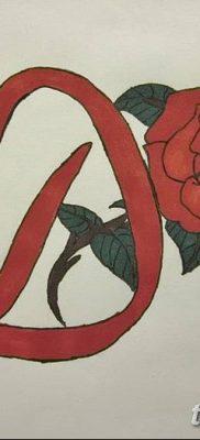 Фото тату красная роза от 08.08.2018 №106 – red rose tattoo – tatufoto.com
