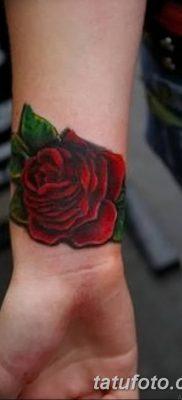 Фото тату красная роза от 08.08.2018 №107 – red rose tattoo – tatufoto.com