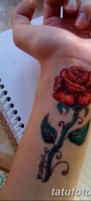 Фото тату красная роза от 08.08.2018 №108 – red rose tattoo – tatufoto.com