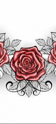 Фото тату красная роза от 08.08.2018 №109 – red rose tattoo – tatufoto.com