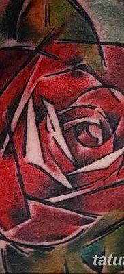 Фото тату красная роза от 08.08.2018 №110 – red rose tattoo – tatufoto.com