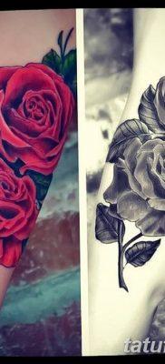Фото тату красная роза от 08.08.2018 №111 – red rose tattoo – tatufoto.com