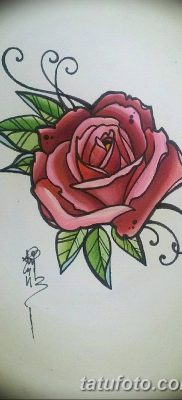Фото тату красная роза от 08.08.2018 №112 – red rose tattoo – tatufoto.com