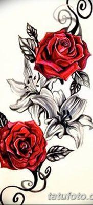 Фото тату красная роза от 08.08.2018 №115 – red rose tattoo – tatufoto.com