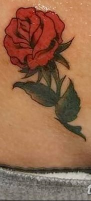 Фото тату красная роза от 08.08.2018 №118 – red rose tattoo – tatufoto.com