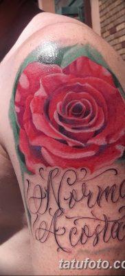 Фото тату красная роза от 08.08.2018 №119 – red rose tattoo – tatufoto.com