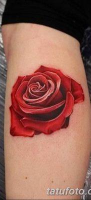 Фото тату красная роза от 08.08.2018 №123 – red rose tattoo – tatufoto.com