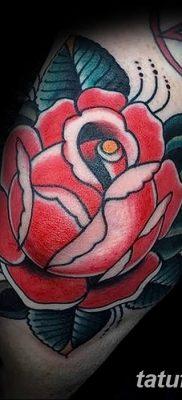 Фото тату красная роза от 08.08.2018 №124 – red rose tattoo – tatufoto.com