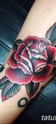 Фото тату красная роза от 08.08.2018 №128 – red rose tattoo – tatufoto.com