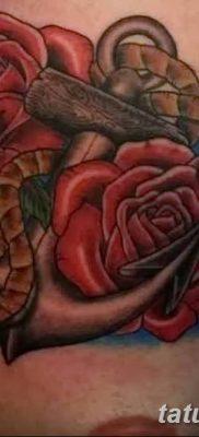 Фото тату красная роза от 08.08.2018 №129 – red rose tattoo – tatufoto.com
