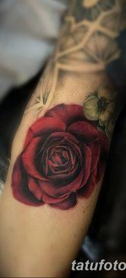 Фото тату красная роза от 08.08.2018 №130 – red rose tattoo – tatufoto.com