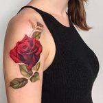 Фото тату красная роза от 08.08.2018 №131 - red rose tattoo - tatufoto.com