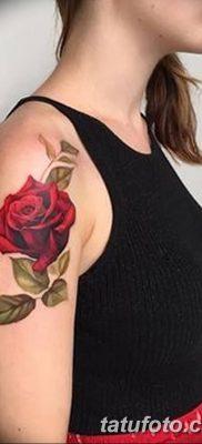 Фото тату красная роза от 08.08.2018 №131 – red rose tattoo – tatufoto.com