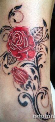 Фото тату красная роза от 08.08.2018 №132 – red rose tattoo – tatufoto.com