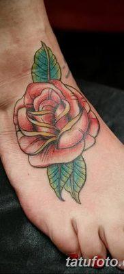 Фото тату красная роза от 08.08.2018 №133 – red rose tattoo – tatufoto.com