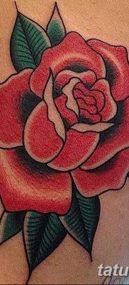 Фото тату красная роза от 08.08.2018 №134 – red rose tattoo – tatufoto.com