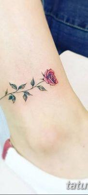 Фото тату красная роза от 08.08.2018 №136 – red rose tattoo – tatufoto.com